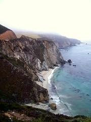 CALI (michael_homen) Tags: ocean california ca blue mountain beach water colors cali fog sand rocks pacific foggy shore