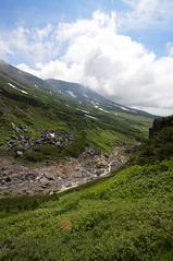 中岳温泉と旭岳