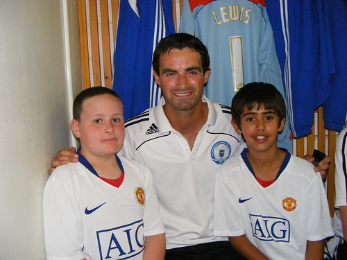 Jordan and Otto with Joe Lewis