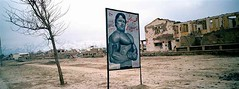 An advertisement for a weight room and gym in Kabul. Karte Seh, Kabul. (UNHCR) Tags: afghanistan refugee refugees taliban migration protection kabul unhcr flchtling hazara displacement migrants refugiados migrante refugiado migranti zalmai rfugi refugie fluechtlinge unrefugeeagency