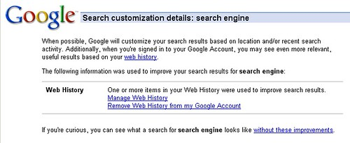 Google More Open About Personalized Results