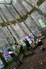 Baroque (exoskeletoncabaret) Tags: mill oregon graffiti ruins utilikilt accordion steampunk vernonia postapocalypse vintagepunk postciv