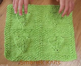 Ravelry: 4 Embossed Hearts Cloth pattern by SmarieK