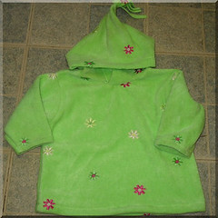 Embroidered Floral Fleece Hoodie