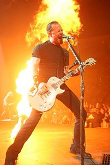 James Hetfield and fire. (new album 12/9/08)