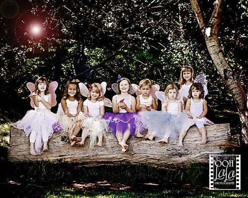{NINE little fairies all in a row}