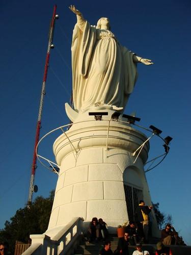 El Cristo. Cerro San Cristóbal, Santiago - Chile