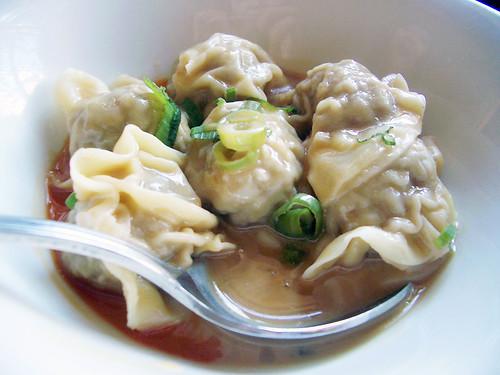 spicy wontons @ M Shanghai Bistro