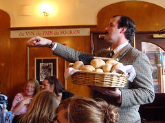 Basil and his bread at the Faulty Towers Dining Experience, Edinburgh