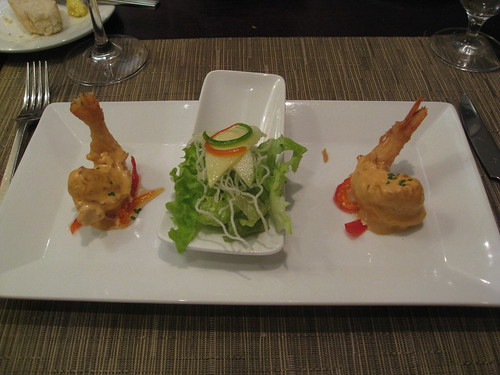 Zazu, Quito, Ecuador: Prawn Tempura with Mango Salad