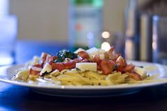 Spinach Tomato Pasta with Mozzarella