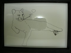 Panther in Leisure (Retiring Panther) (Dr. Dog) Tags: dog art sex graffiti sketch dr gravy exhibition chips drugs dmt aagh