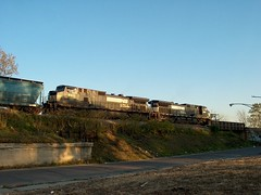 Southbound Norfolk Southern transfer waiting on a hold order. Chicago Illinois. October 2006.