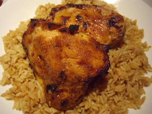 Columbus Foodie » Blog Archive » Spicy Honey Brushed Chicken Thighs