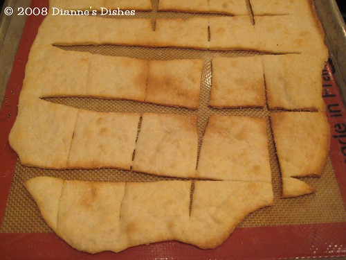 Daring Bakers Challenge September 2008: Lavash Crackers Baked
