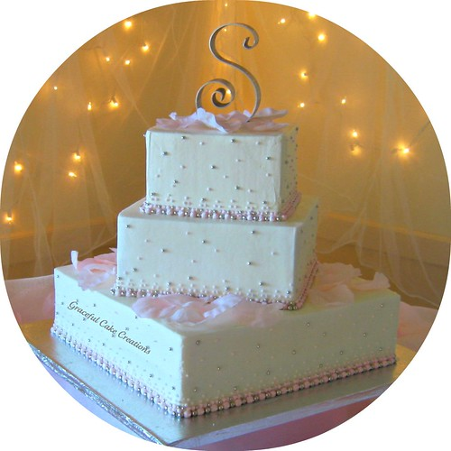 Francelle 39 S Blog It Was A Beautiful Modern 3 Tier Square Champagne And B