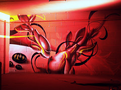 red ze(r)o (mrzero) Tags: red streetart art colors lines wall effects graffiti 3d paint hungary eger letters style spray styles colored graff cfs mrzero