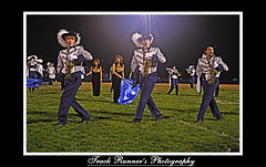 The Marching Rebels! (TrackRunner09) Tags: game color field night photoshop football guard feathers saxaphone marchingband hdr rebels hhs howellhighschool trackrunnerphotography trackrunner09 ltbrennannight