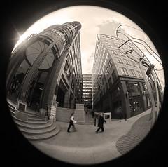 street scene (Curtain Otaku) Tags: london fisheye ravi 2008