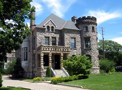 Another View of the Castle (Eridony) Tags: house castle stone michigan historic grandrapids turret cherrystreet heritagehill collegeavenue chateauesque nationalhistoricdistrict constructed1886 heritagehillhistoricdistrict