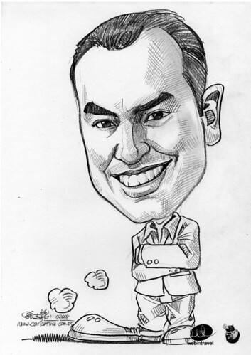 Caricatures Web in Travel 2008 Timothy Hughes