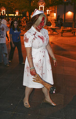Whoa Nurse! (Sheba Wheeler) Tags: world photography blood  picture your brains gore wheeler zombies 2008 denverco sheba 16thstreetmall shebawheelerpictureyourworldphotography pictureyourworldphotography odop 2008shebawheelerpictureyourworldphotography shebawheeler2008 denverzombiecrawl2008