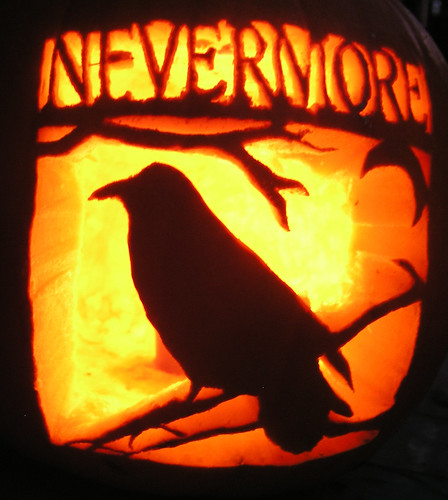 The Raven Pumpkin by tomhauburn.
