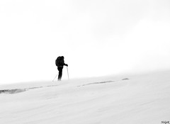 Against Nature (HelgiR) Tags: snow man cold weather iceland hiking climbing blizzard 2008 b1 natuer fbsr