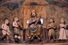 Parma, Baptistery, interior, King David by Antelami