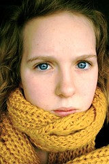 (67/365) (júlía ∆) Tags: blue portrait selfportrait girl yellow scarf iceland eyes reykjavik icelandic mygallery