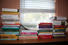 Piles of Cookbooks