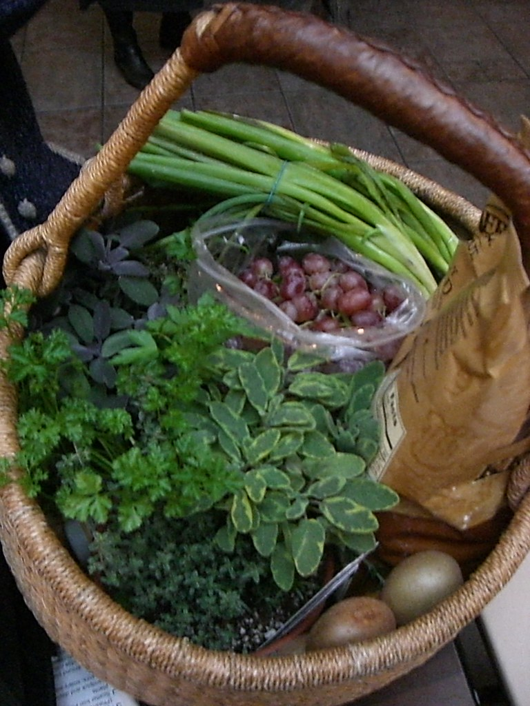 Cop-out picture of veggies in a basket (Day 9)
