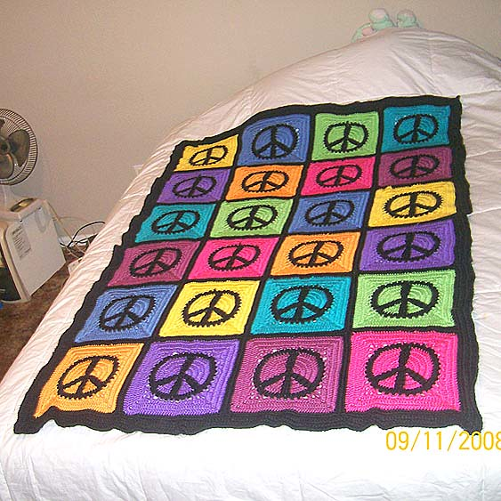 Ravelry Peace Sign Granny Square Pattern By Judyk
