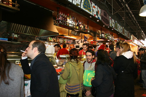 Tapas bar at the Boqueria, Barcelona