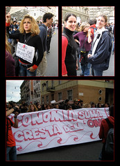 EconomiaSullaCrestaOnda (melianussa) Tags: roma economia 133 sapienza uniroma1 ondaanomala nogelmini sullacestadellonda manifestazione14112008