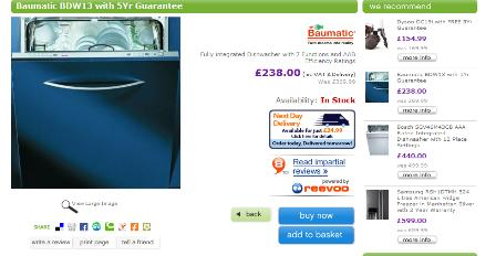 electricshop product page