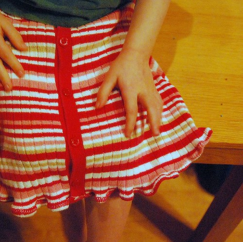Recycled Sweater Toddler Skirt  by you.