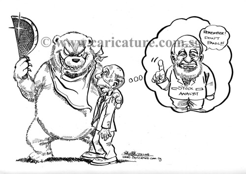 Comic strip illutration - Don't panic watermark