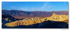 Manly Beacon, Death Valley (Tony Immoos) Tags: california lighting blue sky sunshine clouds sunrise landscape gold nationalpark glow desert vivid roadtrip landmark olympus historical e3 deathvalleynationalpark californialandscape zd 1260mm olympuse3