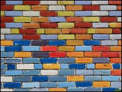 CMYK ( CHRISTIAN ) Tags: blue red colors yellow wall jaune rouge montral couleurs bricks cyan magenta minimal bleu explore simplicity minimalism simple