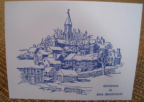 Christmas in Olde Marblehead Card