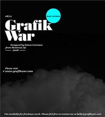 GrafikWar new version! ([GW] GrafikWar) Tags: design photo portfolio typo freelance grafikwar simoncarrasco