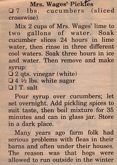 Side - Mrs Wages' Pickles (Eudaemonius) Tags: old vintage recipe side pickles recipes mrs wages clipped eudaemonius bluemarblebountycom 20081211