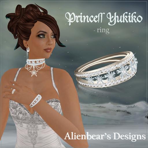 Princess Yukiko ring white