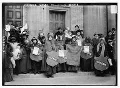 Suffrage hikers collecting  (LOC)