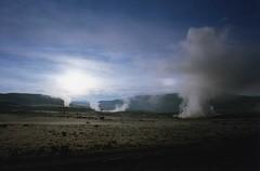 Bolivia - geysers (wallygrom) Tags: sky volcano solitude desert bolivia steam wilderness geothermal emptiness altiplano volcanes volcanos volcan geysers