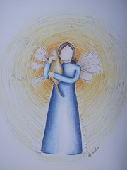anjo da amizade! angel of friendship (AP.CAVALARI / ANA PAULA) Tags: illustration angel ana ilustrao desenho anjo anapaula lpisdecor cavalari anapaulacavalari collorpencil apcavalari