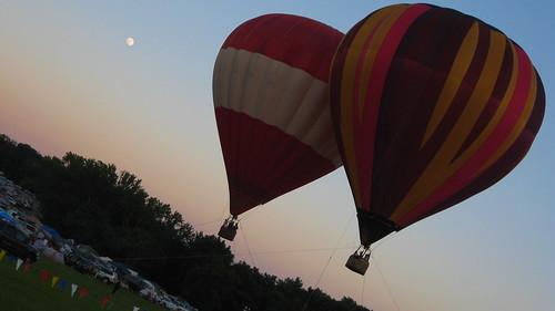 Hot Air Balloons at Wakarusa 2009