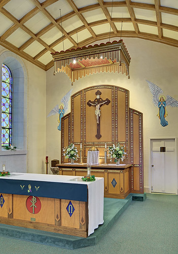 Our Lady Help of Christians Roman Catholic Church, in Weingarten, Missouri, USA - sanctuary