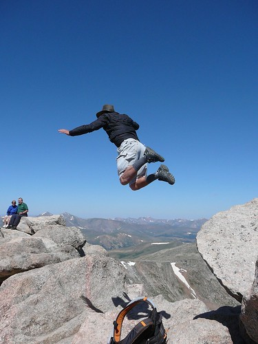 Jumping Off Mt. Evans